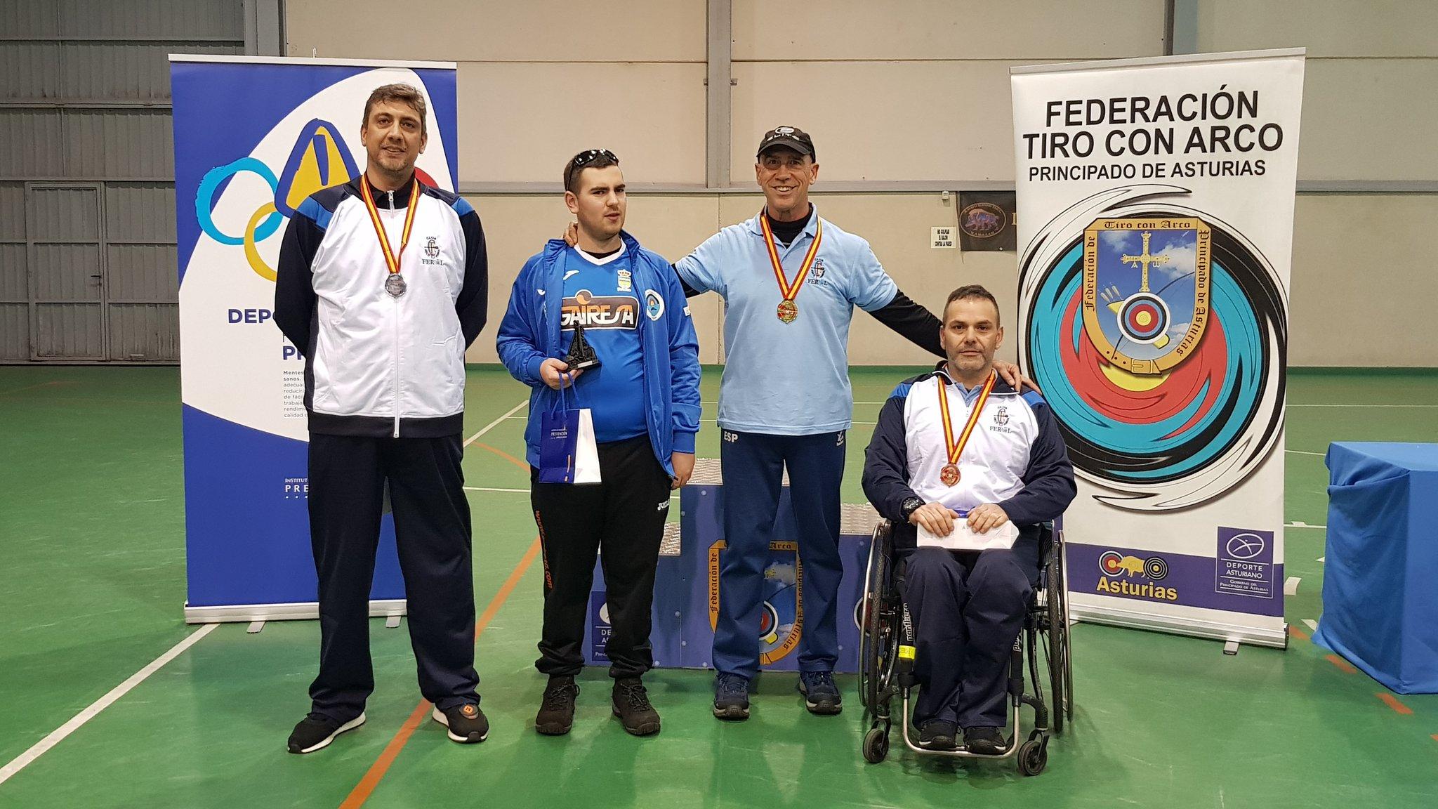 Expedición Galega no Campionato de España de Sala 2019 Arco Adaptado