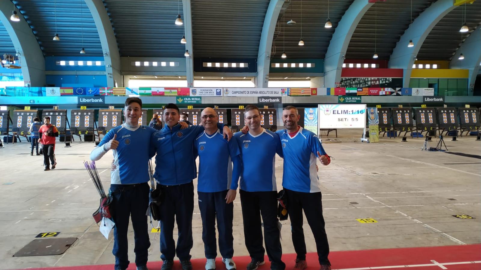 Expedición de recurvo no Campionato de España de Sala 2019 Avilés